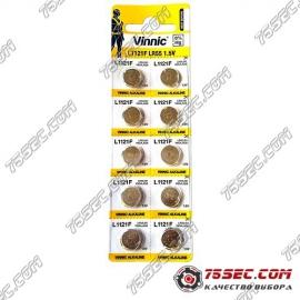 Батарейка Vinnic - L1121 \ 391 \ AG8 (10шт)