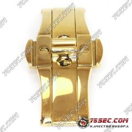 Бабочка «желтое золото» (вставка 6мм) ширина кнопок 25мм.