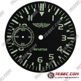 Циферблат «черный авиатор» хронограф на 9