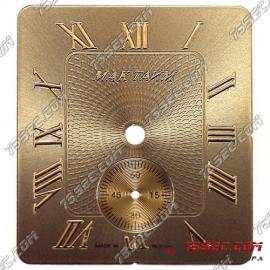 Циферблат «Мактайм коричневый» с нижней секундной стрелкой на 6.