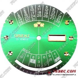 Циферблат «Orient-Колледж зеленый» старая модель.