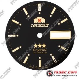 Циферблат «Orient crystal» черный 21 камень