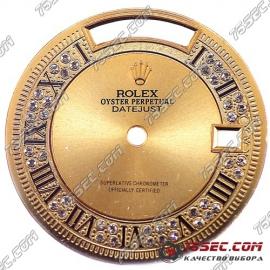 Циферблат «Rolex Datejust» с камнями.