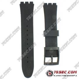 Каучуковый ремешок Swatch черный без тиснения