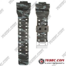 № 012 Каучуковый ремешок для Casio «темный хаки»