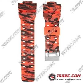 № 015 Каучуковый ремешок для Casio «красный хаки»
