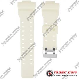 № 017 Каучуковый ремешок для Casio «белый»