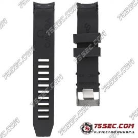 №03 Черный каучуковый ремешок для Omega Seamaster 98000085