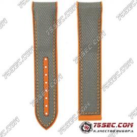 Оранжевый ремешок из каучука для Omega 98000382 тиснение карбон