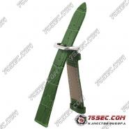 Зеленый ремешок со строчкой, плоский аллигатор KUR(AL-MP-1111)