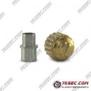 №06 Головка золотого оттенка футер с внутренней резьбой Tag Heuer