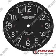 Циферблат «авиатор» 24 часа 19 камней