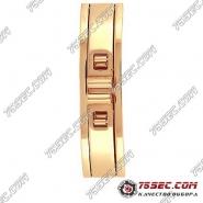 Замок-бабочка для браслетов, цвета красное золото, прорезь 5.0мм.