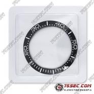 Черный безель со шкалой для часов Omega 38,0х30,6х1,6мм
