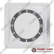 Безель черного цвета для часов Omega 38х30,6х1,6мм