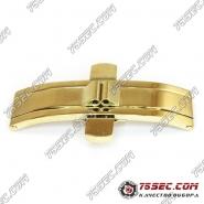 """Замок-бабочка """"золото"""" (вставка 4,5мм) ширина кнопок 19,5мм."""