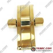 Замок-бабочка «золото» (вставка 4,5мм) ширина кнопок 19,5мм.