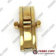 Замок-бабочка «золото» (вставка 4.5мм) ширина кнопок 15мм.