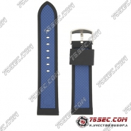 Черно-синий каучуковый ремешок для Ferrari scuderia