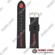 Черно-красный каучуковый ремешок для Ferrari scuderia