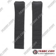 Черный каучуковый ремешок для Tissot T013420