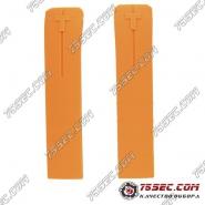Оранжевый каучуковый ремешок для Tissot T013420