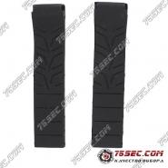 Черный каучуковый ремешок для часов Tissot T-Race
