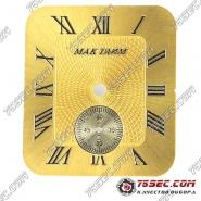 Циферблат «Мактайм желтый» с нижней секундной стрелкой на 6.