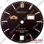 """Циферблат """"Orient WR черный"""" двойным раздельным календарем."""