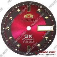 Циферблат «Orient SK crystal» красный.