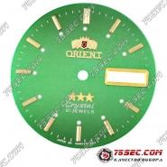 Циферблат «Orient» зеленый 21 камень
