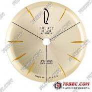 Циферблат «Poljot de luxe automatic» 29 камней, желтое золото