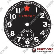 Циферблат «черная смерш» с хронографом на 6
