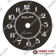 Циферблат «Poljot » черный матовый 18 камней