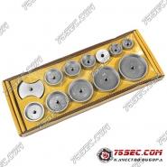 Алюминиевые насадки Ruihua №2512, 12 предметов от 18 до 50мм