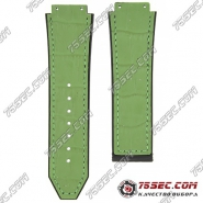 Каучуковый ремешок зеленого цвета для Hublot с тиснением аллигатор