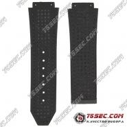 Ремешок из каучука черного цвета для Hublot рисунок джинсы