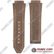 Ремешок из каучука коричневого цвета для Hublot рисунок джинсы