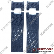 Ремешок Ulysse Nardin синий с 2 вставками, тиснение волны.