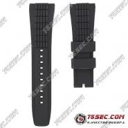 Ремешок из черного каучука с тиснением протектор для Seiko Velatura SRH006, SPC007, SNAE17