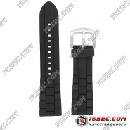 Черный каучуковый ремешок для часов Emporio Armani