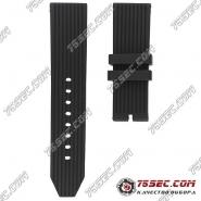 Черный каучуковый ремешок для Breitling №04