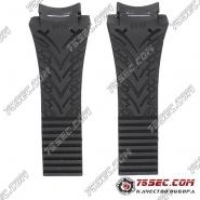 Черный каучуковый ремешок для Porshe 6620