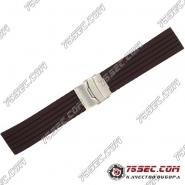 Универсальный ремешок из каучука, коричневого цвета с полосками.