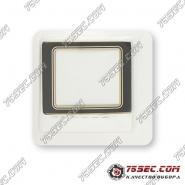 Минеральное стекло Rado 28,3x23,5мм черное с золотой полоской