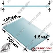 Минеральная заготовка 1.5мм (прямая) размер 100х200мм