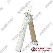 Белый кожаный ремешок с тиснением аллигатор (HB1-11233XL)