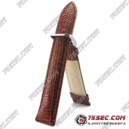 Кожаный ремешок с тиснением ящерицы (RB9-52910)