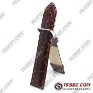 Кожаный ремешок, имитация крокодила (RBV-467H10)