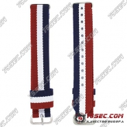 №003 Ремешок «красно-бело-синий» из ткани Daniel Wellington